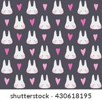 seamless cute pattern with... | Shutterstock .eps vector #430618195