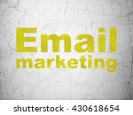 finance concept  yellow email... | Shutterstock . vector #430618654