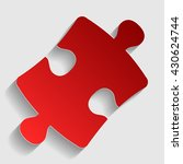puzzle piece sign | Shutterstock .eps vector #430624744