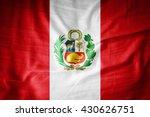 peru flag on grunge fabric 3d... | Shutterstock . vector #430626751