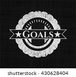 goals chalkboard emblem on... | Shutterstock .eps vector #430628404