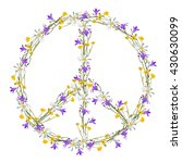 flower power peace symbol ... | Shutterstock .eps vector #430630099