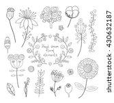 hand drawn vintage decoration... | Shutterstock .eps vector #430632187