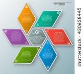 vector abstract 3d paper... | Shutterstock .eps vector #430638445