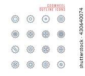 cogwheel outline icons | Shutterstock .eps vector #430640074