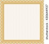 orange diploma or certificate... | Shutterstock .eps vector #430644937