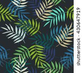 tropical palm leaves seamless... | Shutterstock .eps vector #430647919