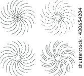 vector vintage sunburst  ... | Shutterstock .eps vector #430654204