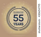 55 years anniversary badge on... | Shutterstock .eps vector #430654795