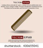 hair comb vector icon | Shutterstock .eps vector #430655041