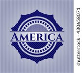 america emblem with jean...   Shutterstock .eps vector #430658071