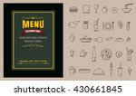 restaurant food menu on... | Shutterstock .eps vector #430661845