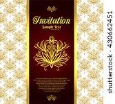 vintage background  invitation... | Shutterstock .eps vector #430662451