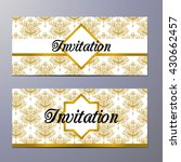 vintage background  invitation... | Shutterstock .eps vector #430662457