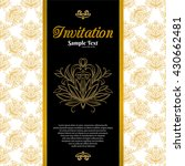 vintage background  invitation... | Shutterstock .eps vector #430662481