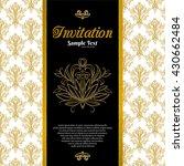 vintage background  invitation... | Shutterstock .eps vector #430662484