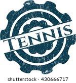 tennis rubber grunge seal | Shutterstock .eps vector #430666717