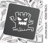 halloween tree doodle drawing | Shutterstock .eps vector #430678621