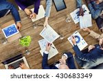 office busy meeting colleagues... | Shutterstock . vector #430683349