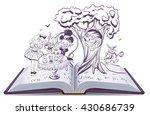alice in wonderland. girl and... | Shutterstock .eps vector #430686739