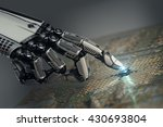 high detailed robotic hand... | Shutterstock . vector #430693804