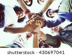 friendship happiness leisure... | Shutterstock . vector #430697041