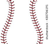 softball  baseball red lace... | Shutterstock .eps vector #430706191