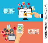 internet security design.... | Shutterstock .eps vector #430712674