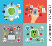 internet security design.... | Shutterstock .eps vector #430712719