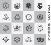 luxury logo set with heraldic...   Shutterstock .eps vector #430714225