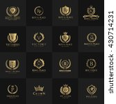 luxury logo set with heraldic... | Shutterstock .eps vector #430714231