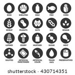 set of 20 allergen ingredient... | Shutterstock .eps vector #430714351