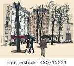 square in paris under the rain  ... | Shutterstock .eps vector #430715221