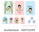 cute girl cartoon design ... | Shutterstock .eps vector #430715299