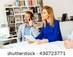 busy business people working in ... | Shutterstock . vector #430723771