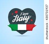 I Love Italy Badge. Heart Shape ...