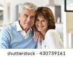 portrait of smiling senior... | Shutterstock . vector #430739161