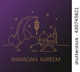 ramadan kareem background with... | Shutterstock .eps vector #430745821