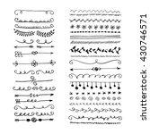 hand drawn set of line frames.... | Shutterstock .eps vector #430746571
