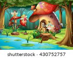 Fairies Flying Around Mushroom...