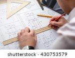mechanical engineer at work....   Shutterstock . vector #430753579
