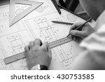 mechanical engineer at work....   Shutterstock . vector #430753585