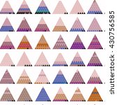 seamless pattern with triangles.... | Shutterstock .eps vector #430756585
