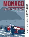 vintage race car for printing. | Shutterstock .eps vector #430763401