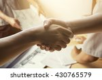 architecture hand shaking after ... | Shutterstock . vector #430765579