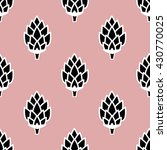 seamless pattern with hops.... | Shutterstock .eps vector #430770025