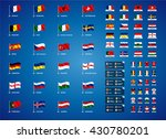 euro 2016 france. vector flags... | Shutterstock .eps vector #430780201