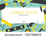 flat design tools object yellow ... | Shutterstock .eps vector #430788835