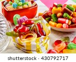 Close Up View Of Gummy Worms I...