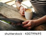 close up of young female hands... | Shutterstock . vector #430799695